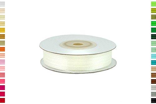 ruban satin 3 mm de large bobine de 50 metres nouvelles couleurs (Ivoire 810)