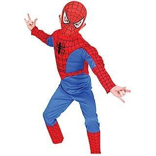 Baby & Sons Spiderman Costume for Kids (Violet and Red) (7-8 Years)