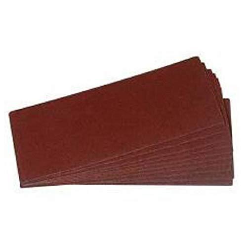 Lot de 12 rectangles abrasifs tous travaux - 230 mm - Grain 40 / 80 / 120