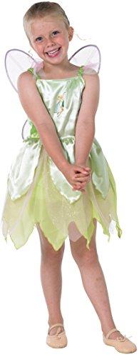 Rubies 3 883850 M - Disfraz de Tinkerbell para niñas, talla M, color crema