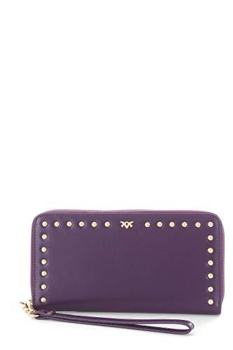 Pinko ambrosini portafoglio da donna viola,1p216z-y4ym