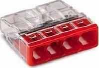 Wago 2273-204 Compact-Dosenklemme 4 x 0.5-2.5 qmm Nr.2273-204 100 Stück, rot von Wago auf Lampenhans.de
