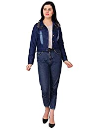 e4e2f03200 C.Cozami Full Sleeves Solid Women Denim Jacket