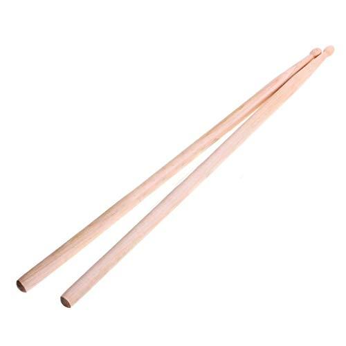 Jinzuke 2ST Ahorn-Holz Drum Sticks 5A Anti-Rutsch-E-Drum-Rack Drum Sticks Musik Sticks für Schlaginstrumente -
