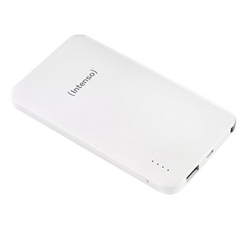 Intenso 7335532 Powerbank S10000-i Dual Slim externes Ladegerät (10000mAh, für Smartphone/Tablet PC/MP3 Player/Digitalkamera/Apple iPhone/iPad) inkl. Apple Lightning Kabel weiß