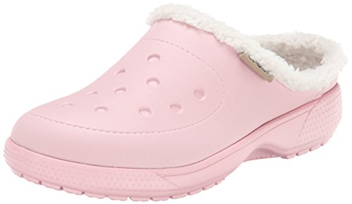 Crocs Colorlite Lined Clog Unisex, Sabots mixte adulte Rose (Pearl Pink/Oatmeal)