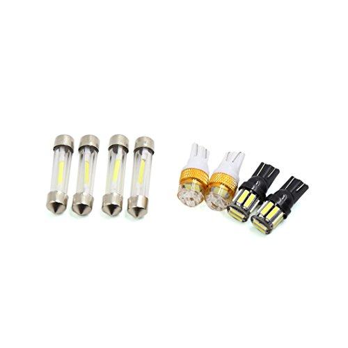 Preisvergleich Produktbild sourcingmap® 8Stk. T10 10 LED Panelleuchte Auto 36mm Girlande Innenlicht Glühbirne Paket Kit