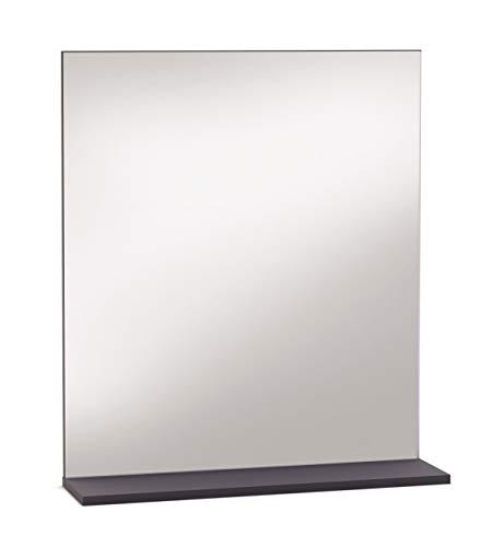 Miroytengo Espejo Estante repisa Color basalto baño