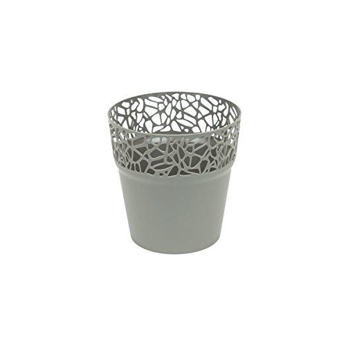 Prosper Plast Dnat120–405u 12 x 12.2 cm Nature Pot de fleurs – Gris pierre