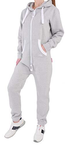 HB5 Finchgirl Damen Jumpsuit Jogging Anzug Trainingsanzug Overall Hellgrau M