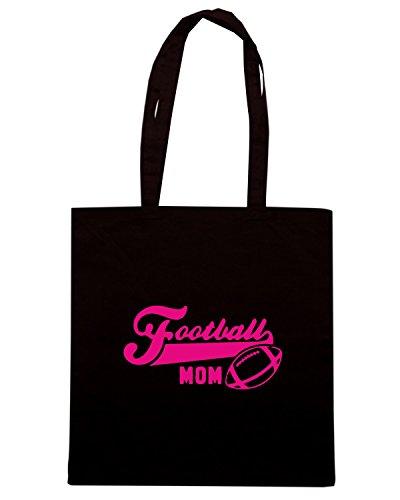 T-Shirtshock - Borsa Shopping WC1156 Football Mom Maglietta Nero