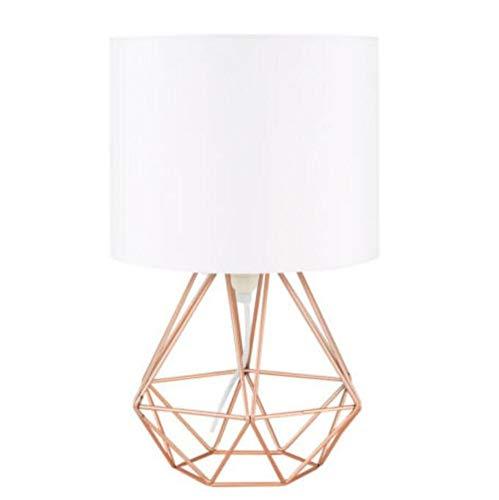 Tischlampe Dekorative Retro Geometrische Tischlampe Trommel Schatten Nacht Home Beleuchtung Licht für Schlafzimmer Wohnzimmer Arbeitszimmer Lampe