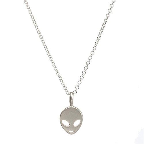 Lalang Halsschmuck Kette Für Damen Charm Halskette Schmucksache Geschenke (Alien)