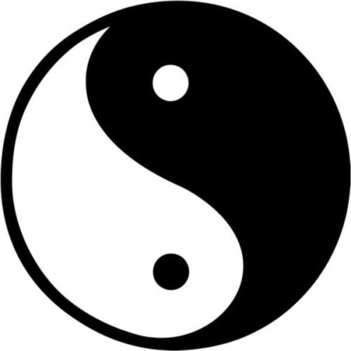 Ying Yang Tao Zen Balance Symbol Graphic Car Truck Windows Decor Decal Sticker - Die Cut Vinyl Decal for Windows, Cars, Trucks, Tool Boxes, laptops, MacBook - virtually Any Hard, Smooth Surface (Zen-tools)