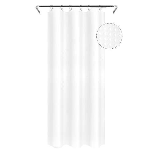 Eforgift Marokkanischer Paisley-Stoff Badezimmer-Vorhang, wasserdicht, strapazierfähig, waschbar, für Zuhause, Hoteldekoration, Duschvorhang, Mikrofaser-Polyester 36Wx72L weiß -