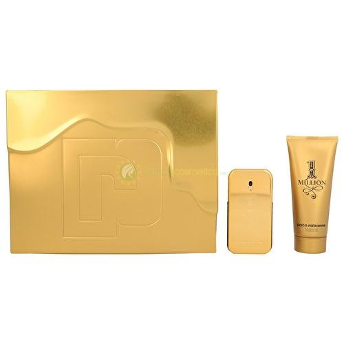 2017 Paco Rabanne 1 Million Gift Set: Eau De Toilette 50ml + Shower gel 100ml