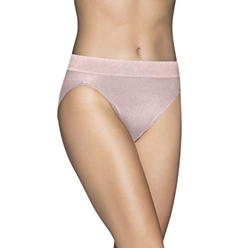Vanity Fair Damen Beyond Comfort Hi Cut Panty 13212 Unterhose, Sheer Quartz, X-Large (34) -