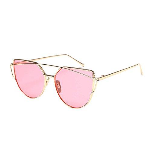 YWLINK Retro Multicolor Polygon Brille Mode Klassisch Damen Herren Farbverl Polarisierte Sonnenbrille Strand Urlaub