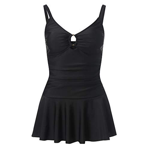 XuxMim Frauen Plus Size Control Bauch Kostüm Tankini Badeanzug Bikini ()