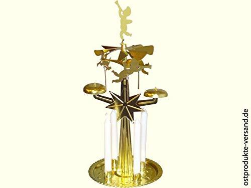 Ostprodukte-Versand.de Lichter Glocken Spiel mit 4 Kerzen | DDR Traditionsprodukte | DDR Waren Pyramide Marine