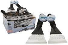 Breiter Eiskratzer mit Schaumstoffgriff, mit PVC, für Auto und Fenster, Länge 25,4 cm x 14 cm