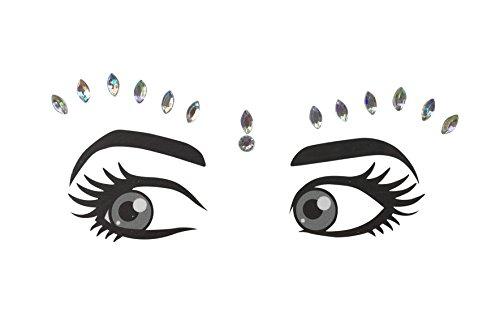 Cara joyas joyas claras Pegatinas estrellas maquillaje