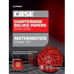 CBSE Maematics Chapterwise Solved Paper Class 12 2019-20