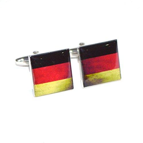 Deutsch Deutschland Flagge, Used-Look, Split Manschettenknöpfe X2BOCS251