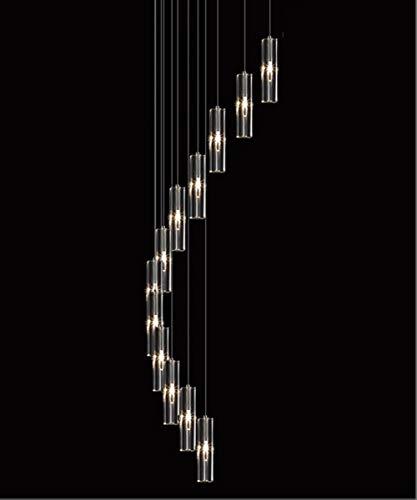 12 Lichter Treppe Kronleuchter Duplex Gebäude Kronleuchter Modernen Minimalistischen Amerikanischen Stil Kreative Kronleuchter Europäischen Kristall Rotierenden Villa Lampen Lange 40x150 cm -