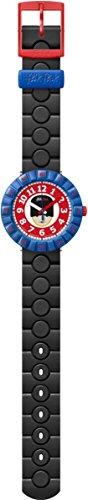 Flik Flak Jungen-Armbanduhr Analog Quarz One Size, rot, schwarz/blau