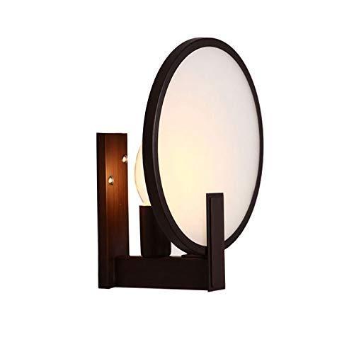 Kommode Runde Spiegel (Zhang Ying ZY Einfache Runde Eisen Vintage Kommode Spiegel Lichter Kreative Schlafzimmer Bedsides Wandleuchten Flur Balkon Wandlampen)