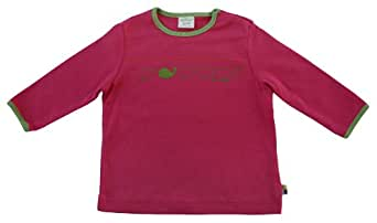 Loud + Proud Unisex Baby Long Sleeve Shirt with print - Organic Cotton, Pink, 98/104