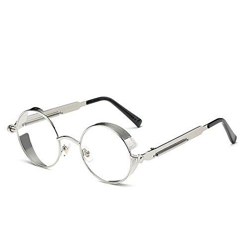 AMZTM Draussen Lesen Brille Kleine Rund Glass Linsen Nicht Polarisiert Punk Sonnenbrille für Damen und Herren