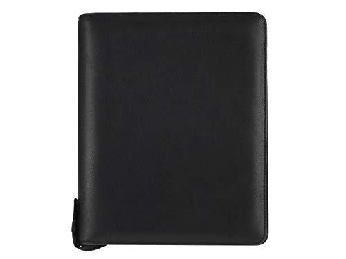 Bind Terminkalender A5 Leder schwarz Terminplaner Organizer Planer mit Systemeinlage und Kalender 2019 mit Taschenrechner (Taschenrechner Terminkalender)