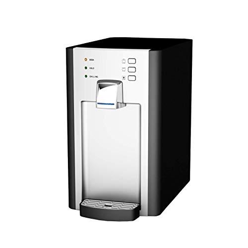SPRUDELUX Auftisch-Trinkwassersystem RED Diamond ohne CO2 Flasche. Profi-Wassersprudler für den Privathaushalt. Spritziges Mineralwasser/Sprudelwasser + kochend heiß 98℃ Sprudelgerät Wassersprudler