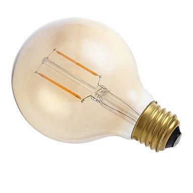 HZZymj-2W E26 Bombillas de Filamento LED G80 2 COB 180 lm Ámbar Regulable AC 110-130 V 1 pieza
