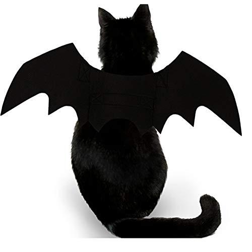 (BAIVIT Halloween Haustier Katze Hund Fledermaus Kostüm Schwarz Coole Welpen Katze Verkleiden Sich)