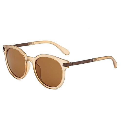Yuany Sonnenbrille weibliche koreanische Version der Flut Plug-in Street Shooting rundes Gesicht Retro Brille Sonnenbrille weiblichen UV-Schutz