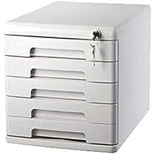ZZRWJH File Box Archivadores metálicos Armario de Escritorio 5 Capas con Cerradura Tipo de cajón Negro