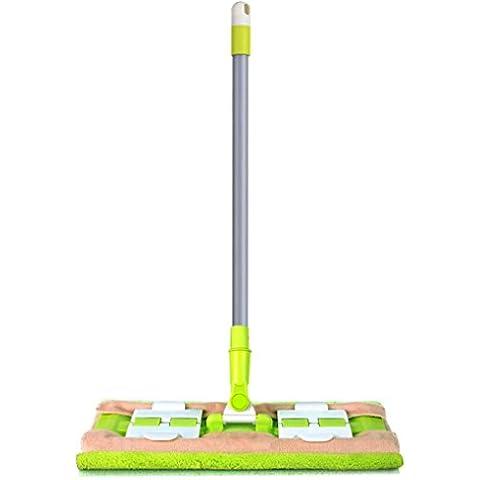 Limpia, hansee® ajustar Clip de mariposa Mango Amplia superficie de mopa de microfibra de limpieza de suelo