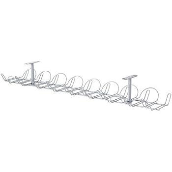 Ikea SIGNUM Kabelkanal waagerecht, silberfarben, Metall, Grey 86 x 21 x 5 cm