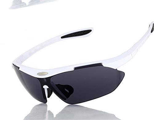 erhuo Cycling Running Outdoor Sports Bike Unisex Winddichte myopie Sonnenbrillen polarisierte sportbrillen, weiß