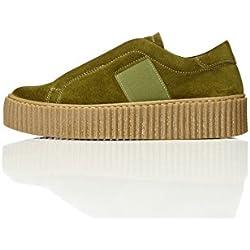 FIND Zapatillas con Plataforma Mujer, Verde (Green), 40 EU