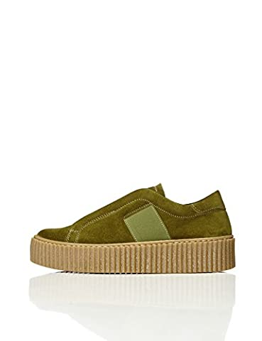 FIND Women's Walsh Elastic Trainer, Green (Green), 5 UK