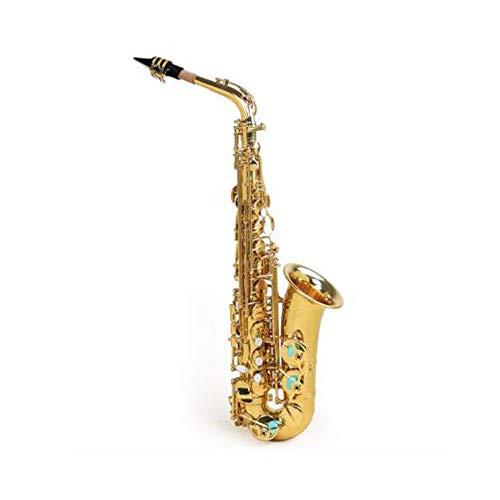 Gaoxingbianlidian001 Saxophon, Altsaxophon, Es-Saxophon, Anfänger spielen Erwachsene Kinder Eb-Saxophon,Reine Klangqualität