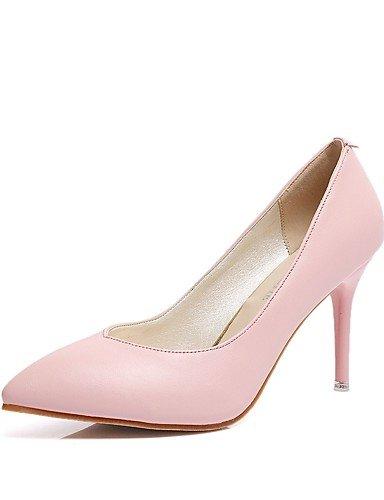 GS~LY Da donna-Tacchi-Casual-Tacchi-A stiletto-PU (Poliuretano)-Nero / Rosa / Rosso / Bianco / Argento red-us7.5 / eu38 / uk5.5 / cn38