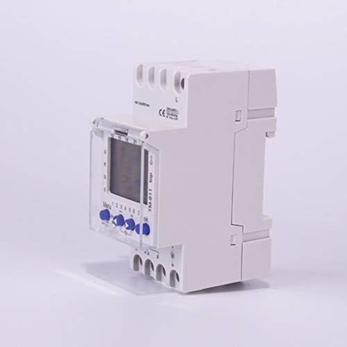 LouiseEvel215 220 V TM611 EIN-Kanal-Timer 7 Tage 24 Stunden programmierbare elektronische LCD-Digital-Zeitschaltuhr mit Impuls -