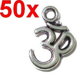 50x Om Schmuck Anhänger OM Zeichen des Buddhismus für das transzendentale Universum Grosshandel (50 Stück)