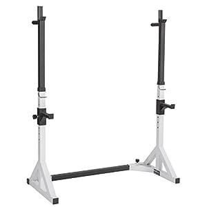 Bad Company verstellbarer Kniebeugenständer mit Langhantelablage und Dipstation I Squat Rack für das Hanteltraining und Bankdrücken I BCA-29