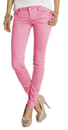 besty ledbe rlin Damen Jeans pantaloni, Slim Fit anca Pantaloni, j160p Pink